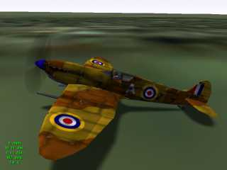 Spitfire Mk1. Easy to fly but ugly