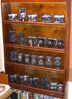 A selection of our cameras in the cabinet