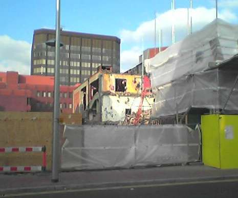 The final destruction of the ABC cinema, Reading, Autumn 2003