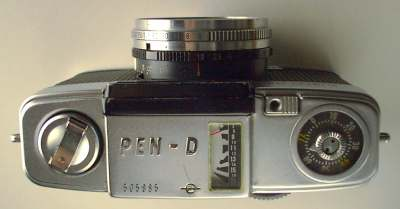 Top plate of Olympus PEN D