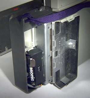 Inside of battery compartment