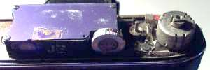 Fig 1, View underneath top plate before opening rangefinder box